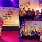 Dewan Koperasi Indonesia (DEKOPIN) Memberikan Penghargaan kepada Koperasi Kredit (CU) Pancur Kasih