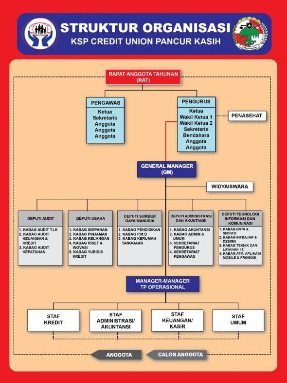 Struktur Organisasi KSP Credit Union Pancur Kasih
